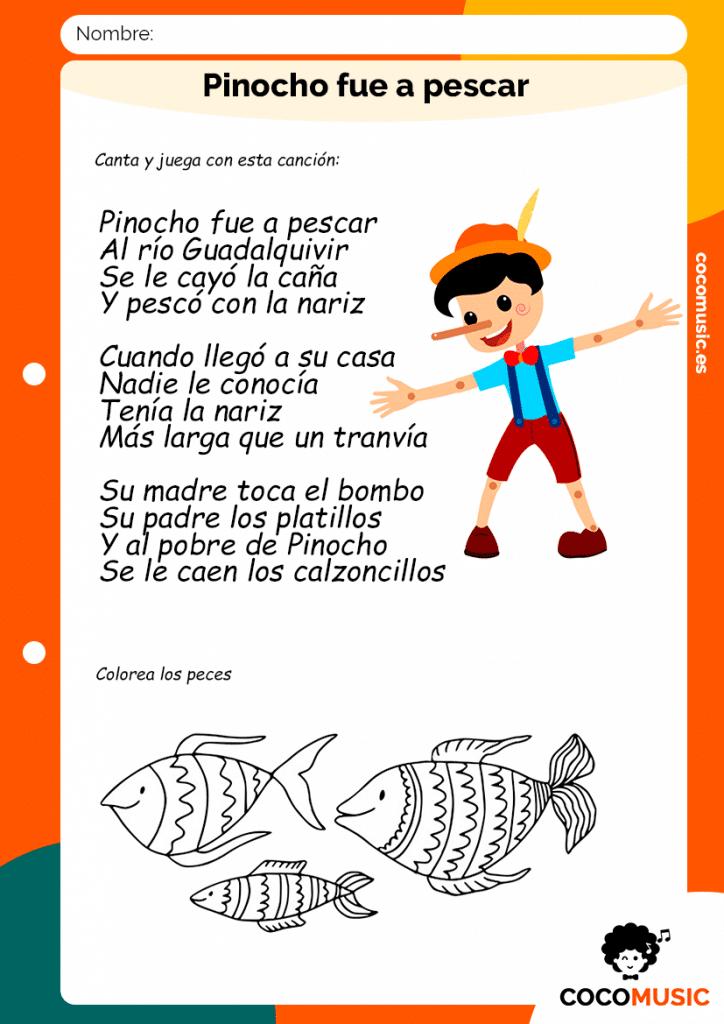Canción Pinocho fue a Pescar