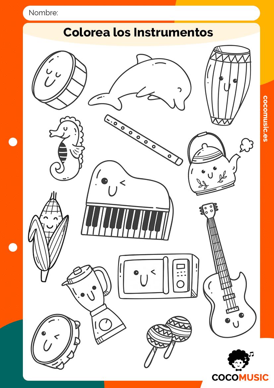 Colorea los Instrumentos