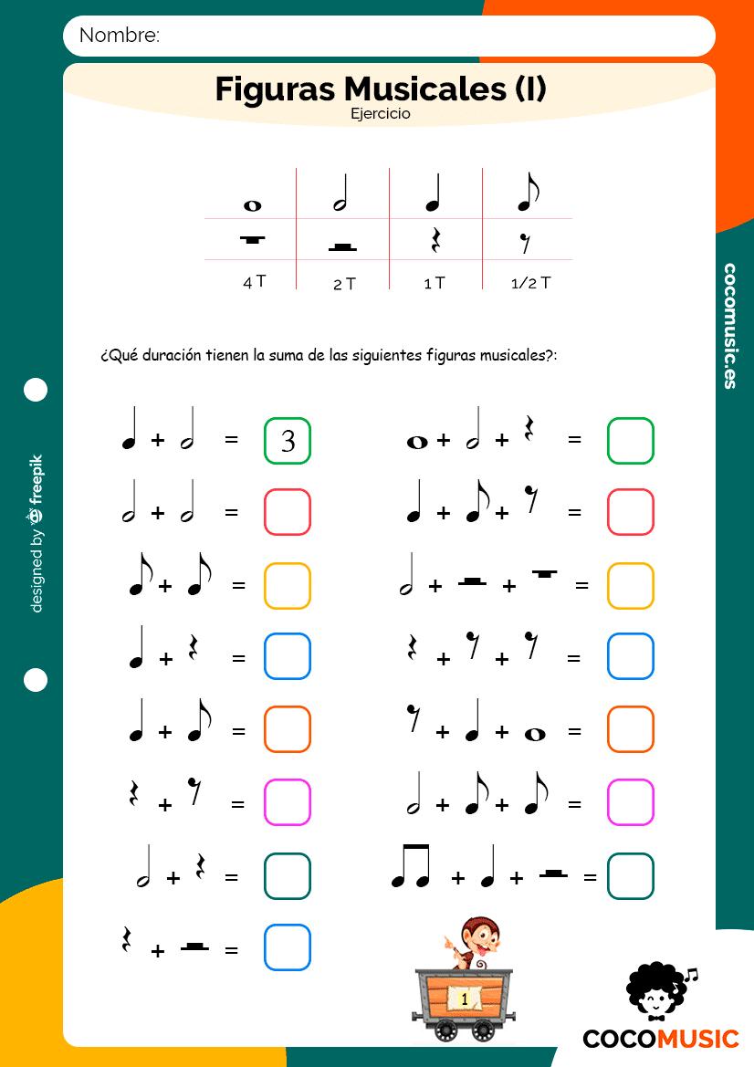 Ejercicio Figuras Musicales (I)