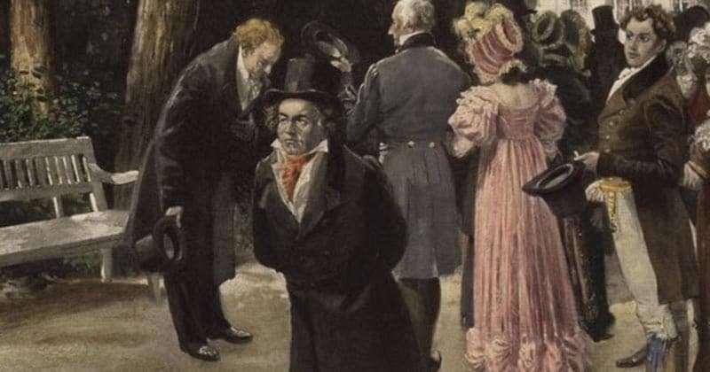 Beethoven paseando por Viena