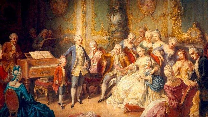 Mozart de niño en palacio