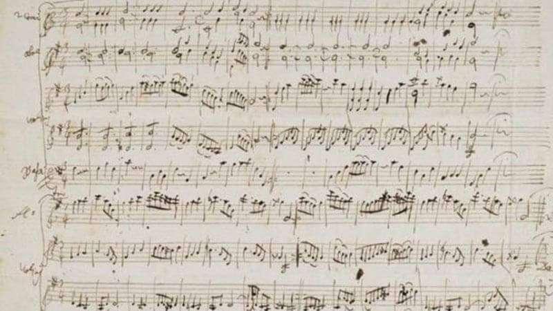 Partitura de Mozart