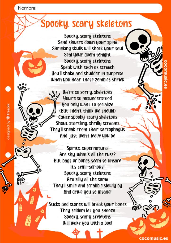 Canción Halloween - Spooky Scary Skeletons